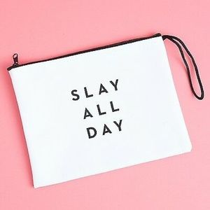 MILLY Slay All Day clutch zip pouch NEW